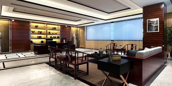 办公室装修中式古典办公室装修风格突显公司实力