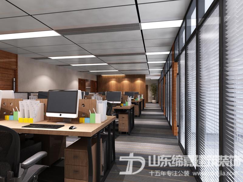 从四个方面打造济南办公室装修项目典雅和谐的感观